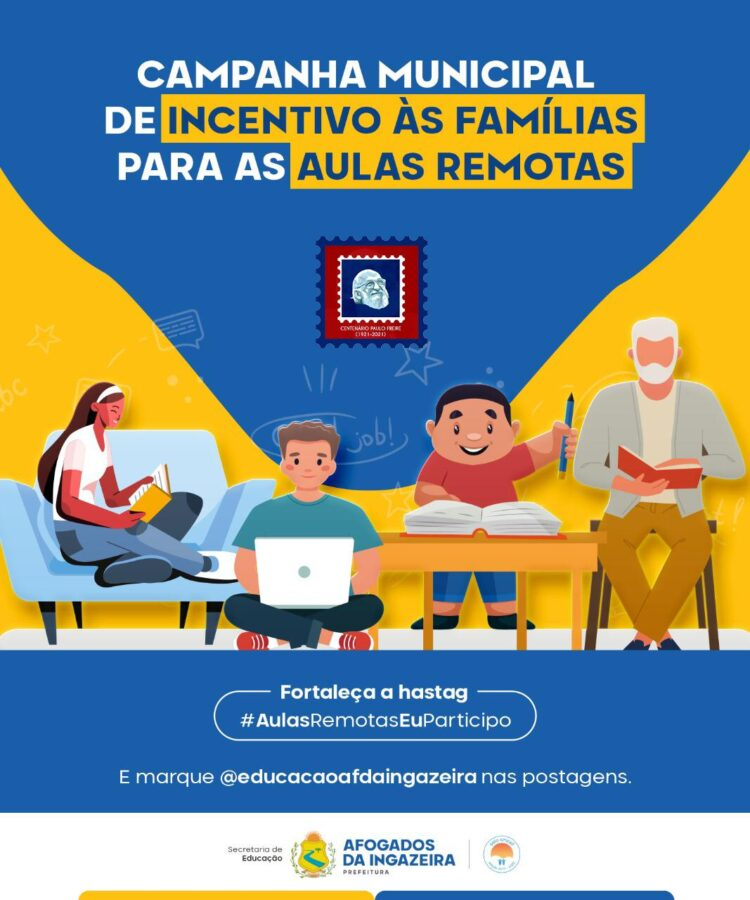 Afogados: Secretaria de Educação lança campanha de incentivo às aulas remotas