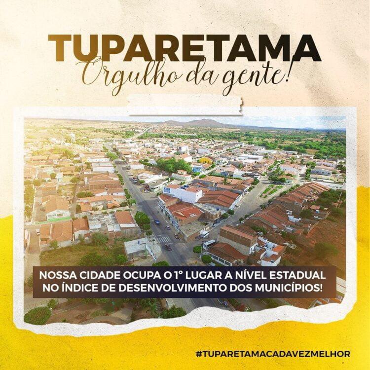 Segundo a plataforma IGMA, Tuparetama está em 1º lugar no Estado de PE e na Região do Pajeú, e concorre ao prêmio Band Cidades Inteligentes